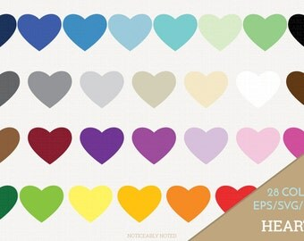 Hearts Vector, Heart Clipart,  Heart SVG, Valentine's Day Printable, Love Print and Cut, Color Heart, Solid Hearts SVG (Design 11618)