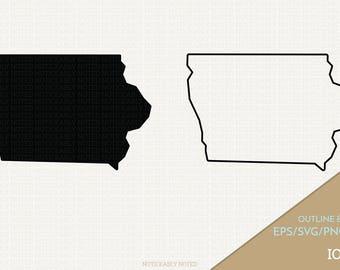Iowa Vector, State Clipart, IA Clip Art, Iowa SVG, State PNG  (Design 13742)