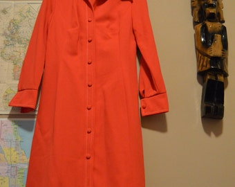 Edith Flagg California late 60s vintage red dress