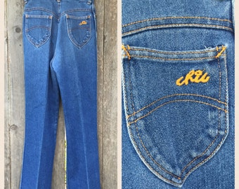 VINTAGE 70's Ultra High Waisted Chic Jeans // Retro // Hippie