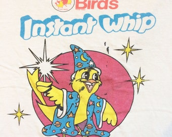 Rare 1980's Birds Instant Whip Promotional Children's t shirt