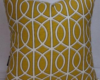 "Dwell Studio Bella Porte, citrine, decorative throw pillow, 20 x 20"""