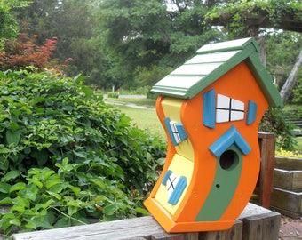 Dr Seuss - style Birdhouse - color choice!