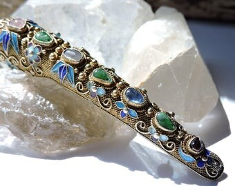 Corsage Flower Brooch Holder with Multi Stones