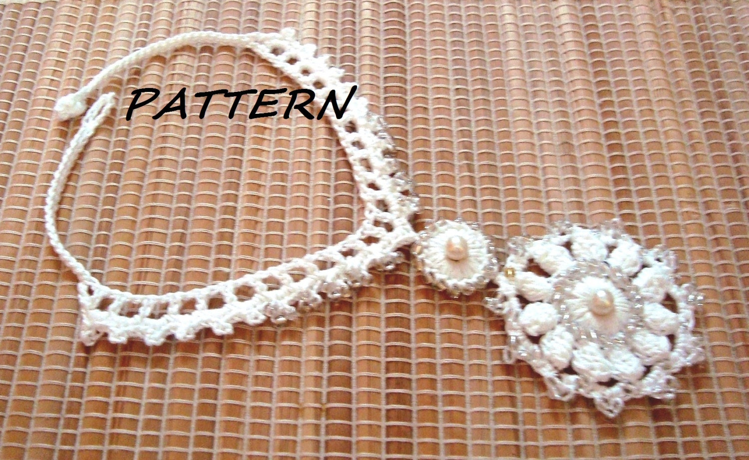 Crochet necklace pattern crochet classic beaded necklace zoom bankloansurffo Image collections