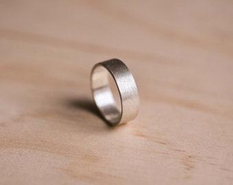 Brushed Argentium Silver Ring