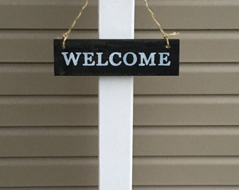 Porch Post, Sign Post, Welcome Sign Post, Decorative Sign Post, Front Step Sign Holder