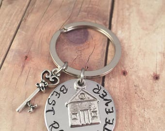 Friend keychain, Roommate keychain, college roommate, girlfriend gift, couples keychain,  best friend gift, House Key keychain