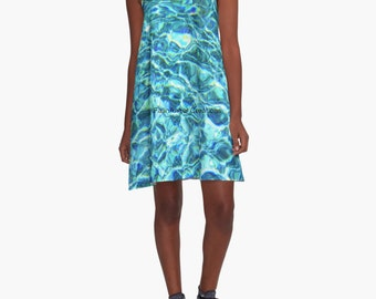 Shimmering Water A-Line Dress, 6 Sizes Available!