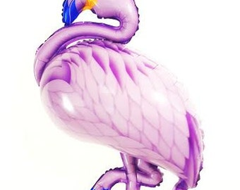 """27"""" Flamingo balloon. Flamingo decor. Ice cream party. Pool party decor. Summer Party Decor. Aloha party decor.  tropical balloon."""