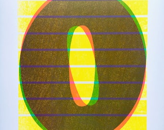 3-color Neon Zero Print
