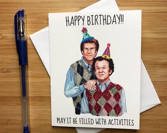 Step Brothers Birthday Card, Funny Birthday Card, Step Brothers Movie, Will Ferrell, Comedy Gift for Him, Prestige Worldwide, Bday Greeting