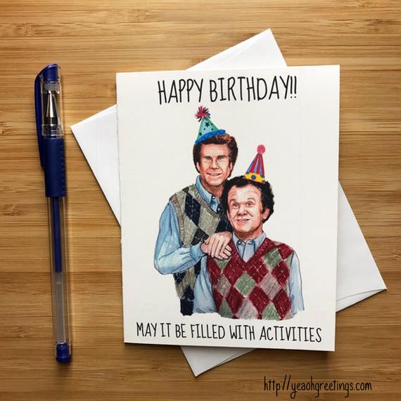 Step Bros Birthday Card Funny Birthday Card Comedy Gift For