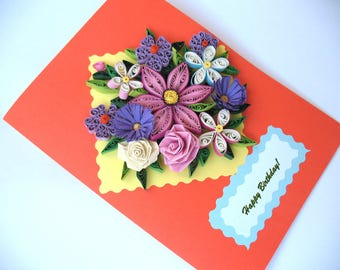 Quilling Card - Birthday - Paper Quilling