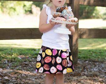 Black Donut Skirt, Headwrap, Girls Skirt, Donuts, Baby Clothing, Girls Clothes, Girls Clothing, Ice Cream Skirt