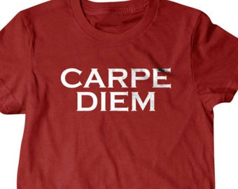 Carpe Diem T-shirt, tumblr clothing, Seize the day shirt, diem shirt,  Funny T Shirts for Men T Shirts for Boyfriend & Husband Gifts for Dad