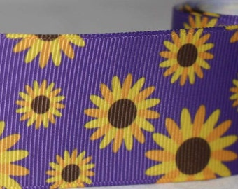 """Sunflower Design 1.5"""" Collar with Side Release Buckle (Martingale Option Available)"""