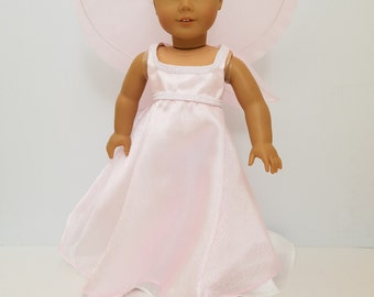 """Pink 18"""" doll fairy costume"""
