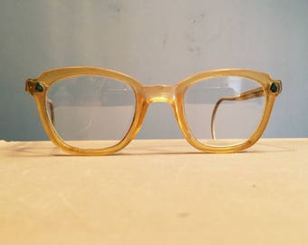 Vintage American Optical Safety Glasses - Bakelite? - 1950s - Hipster