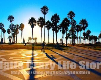 Venice Beach Sunset PRINT (Various Sizes/Frames)