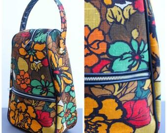 Vintage 1960s Floral Bag / Originally for Shoes