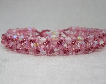 Light Rose Swarovski Crystal Layer Bracelet