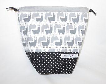 Sock Project Bag // Emily Sack // Here A Llama There A Llama