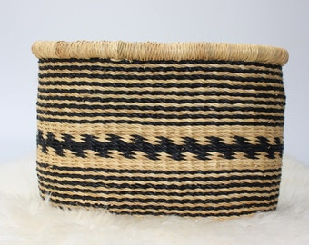 Bicycle Basket, Bike Basket, African Basket, Bolga Basket, Woven Basket, Panier, Boho, Eclectic, Ethnic, Hand Made - BABABB08S Small