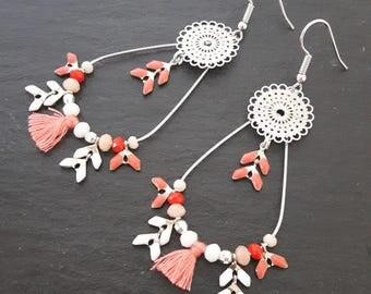 Earrings LISANDRE - Corail