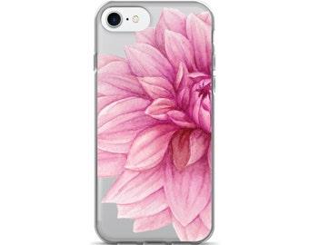 Floral Clear iPhone 7 Case - iPhone 6s Case Transparent iPhone 6 Case - iPhone 5 Case - iPhone 5S Case - iPhone 6 Plus Case