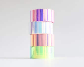Holo tape, holographic masking tape, iridescent tape, holographic stationery