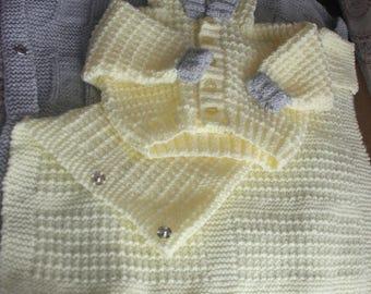 Yellow/ Grey baby boy layette
