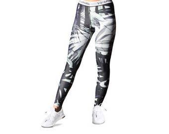 Bermuda Print Leggings - Fitness Leggings, Fashion Pants, Gym & Yoga Tights