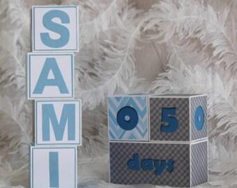 Baby name blocks etsy baby name blocks age blocks nursery decor personalized baby name blocks negle Choice Image