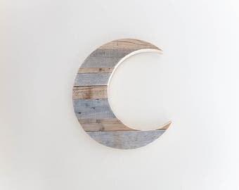 Nursery Decor | Woodland Nursery | Boho Nursery | Moon Child | Moon | Moon Decor | Wood Moon | Nursery Wall Decor | Reclaimed Wood Art