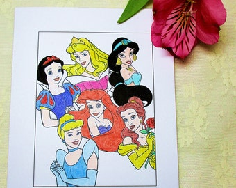 Disney Princess Card: Add a Greeting or Leave Blank