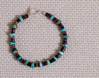 Turquoise Bracelet in Hubei Heishi