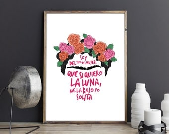 Frida Quote Digital Print