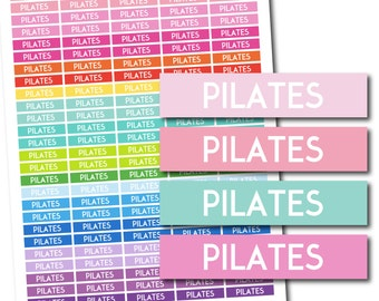 Pilates stickers, Pilates planner stickers, Pilates printable stickers, Pilates weekly stickers, Pilates monthly stickers, STI-714