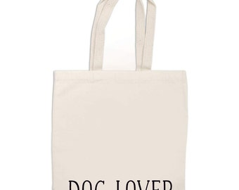 Canvas TOTE BAG/  Grocery tote/  Dog Lover Tote Bag -- dog tote