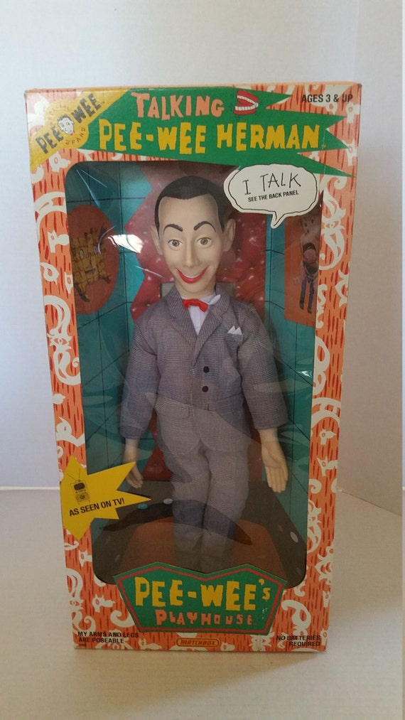 pee wee herman talking doll vintage new in box 1987 ultra rare. Black Bedroom Furniture Sets. Home Design Ideas