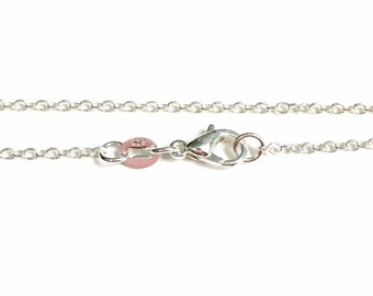 925 Sterling Silver Plated Cable Link Necklace, You pick the length 16, 18, 20, 22, 24, or 30 Inches, Add on purchase Jewelry Chain her him