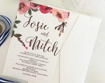 Wedding Invitation Summer, Wedding Invitation Elegant, Wedding Invitation Flower, Wedding Invitation Calligraphy, Wedding Invitation Modern