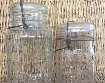 Vintage Glass Mason Jar Containers