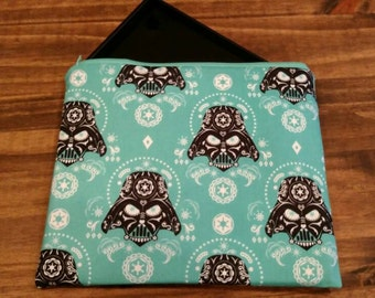 Sugar Skull Darth Vader Star Wars Tablet and iPad Case, Padded Tablet and iPad Case, Turquoise Darth Vader Tablet and iPad Case, NerdNeeds