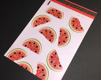 50 Designer WATERMELON Poly Mailers 10x13 Envelopes Shipping Bags
