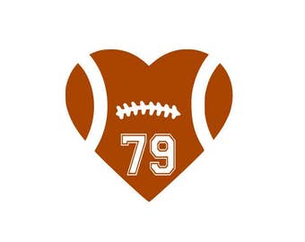 Football Heart SVG File Cutting, DXF, EPS design, cutting files for Silhouette Studio and Cricut Design space