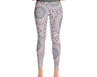 Mandala Pattern Pants. Womens Yoga Leggings. Yoga Tights. Yoga Pants. Stretch Pants. Mandala Leggings. Printed Leggings