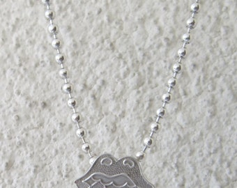 "THE ROLLING STONES necklace +  20"" Ball chain .925 Sterling Silver by Amires Saint"