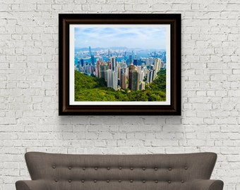 Hong Kong Photograph - Landscape Photograph - skyline Photograph - Asia Photograph - Original Fine Art - Digital Download - Instant Download